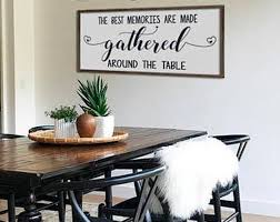 Large Dining Room Sign The Best Memories Are Made Around Talbe Farmhouse Wall