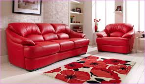 Black And Red Living Room Decorating Ideas by Adorable Red Leather Living Room Furniture And Best Red Living