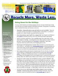 Waste Management Christmas Tree Pickup Schedule by Recycle More Waste Less By Frederick County Md Office Of