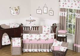 elephant pink taupe crib bedding set by sweet jojo designs 9