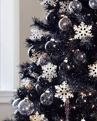 Black Slim Christmas Tree Pre Lit by Tuxedo Black Artificial Christmas Tree Treetopia