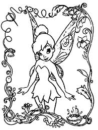 Beautifull Tinkerbell Coloring Pages Disney For Kids Cartoon Free Online And Printable