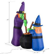 Christmas Tree 6ft Ebay by 6ft Halloween Inflatable Airblown Bubble Witches W Cauldron