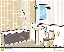 bathroom stock vector illustration of green design 28342964