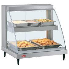 glo designer heated display food merchandiser