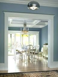 Light Blue Grey Walls Living Room Construction Dining