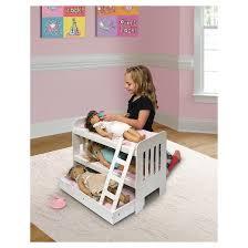 Badger Basket Trundle Doll Bunk Bed with Ladder Tar