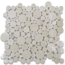 crema marfil mosaic tile polished marble from spain