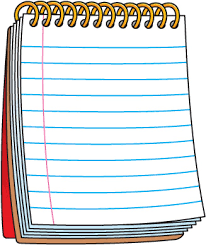 Notebook clipart pad paper Pencil and in color notebook clipart