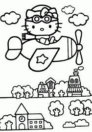 Hello Kitty Printing Coloring Pages