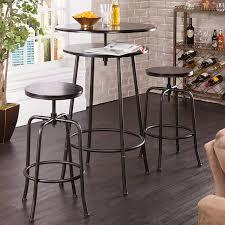 Wayfair Kitchen Pub Sets by Amazon Com Holly U0026 Martin Kalomar 3pc Adjustable Pub Table