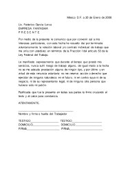 Carta Renuncia MODELO