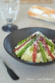cuisiner simplement risotto asperges jambon ibérique cuisiner tout simplement