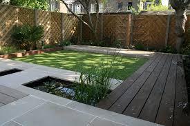 Contemporary Water Garden Design Photo