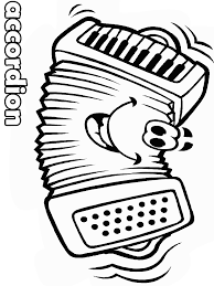 Accordion Face Music Coloring Pages