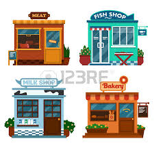 Illustration Buildings That Are Shops For Buying Food Milk Royalty Free Cliparts Vectors And Stock Illustration Image