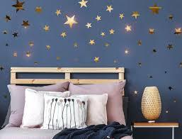 dekoration punkte wohnzimmer kinderzimmer glanzgold