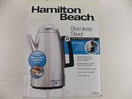 Get Quotations Hamilton Beach 12 Cup Percolator Stainless Steel 40614 Cool Touch Handl