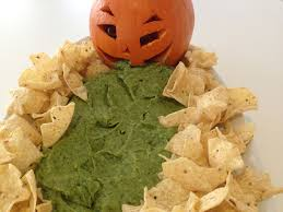 Puking Pumpkin Guacamole Dip by Guacamole Vomiting Jack O U0027 Lantern Recipe All Recipes Uk