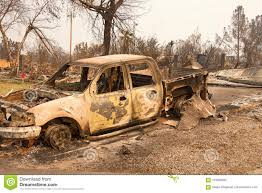100 Redding Truck And Auto Burned House Destroyed By Carr Fire In CA Stock Photo