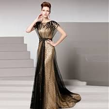 coniefox ready to ship in stock robe de soiree gold sequins prom
