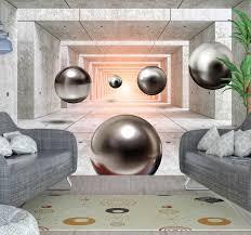 futuristischer 3d tunnel fototapete