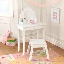 Kidkraft Deluxe Vanity And Chair Set by Kid Kraft Medium Bedroom Vanity With Stool White Walmart Com