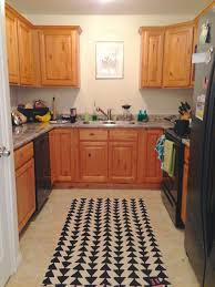 Area Rugs Marvelous Kitchen Rug With Black Triangle Patterns U Shape Set Marble Countertop Original Wood Toned Cabinetry Sets Contemporary Modern