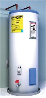 Illustration Of A Gas Water Heater With An EnergyGuide Label