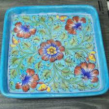 Bluepottery Tray Jaipur Homedecor Kitchendecor Blueturquoise