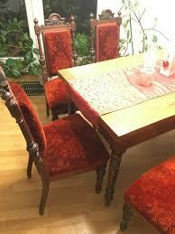 antiquität esszimmer möbel um 1900 tisch und 6 stühle