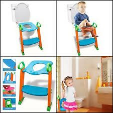 Frog Potty Seat With Step Ladder by Teddie Kids Baby Toddler Potty Loo Training Toilet Seat With Step