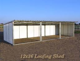 loafing shed kits oklahoma noble panels loafing sheds shelters