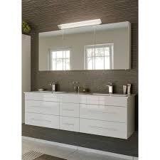 badmöbel set hochglanz weiß newland 02 153cm waschtisch 2 waschbecken led spiegelschrank b h t ca 153 200 47 cm