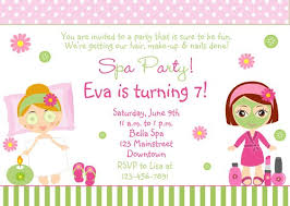 Best 25 Spa Party Invitations Ideas On Pinterest