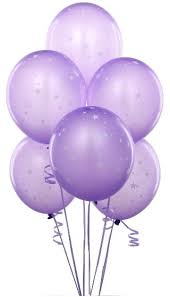 Lavender with Stars Matte Balloons count