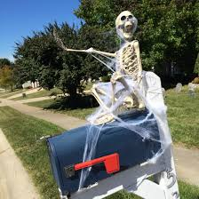 Halloween Decorations Pinterest Outdoor by Skeleton Mailbox Halloween Decoration Hallelujah Halloween