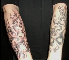 Burning Flame Tattoo On Arm