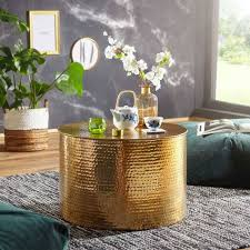 61x41x61 wohnzimmer tisch aus alu in gold rading