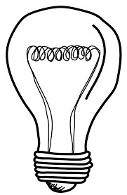 light bulb transparent pencil and in color light