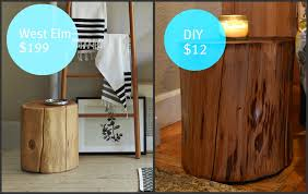 restyle restore rejoice diy tree stump side table