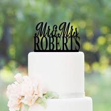 Today 1 2 Off Custom Wedding Cake Topper Mr 7 Mrs Personalized W Your Last Name Color Choice Black White Natural Rustic Wood Mirror Finish