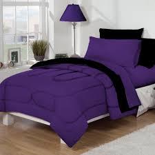 Twin Xl Dorm Bedding by Dorm Bed U0026 Bath Purple Black 10pc Set For Xl Twin College Beds