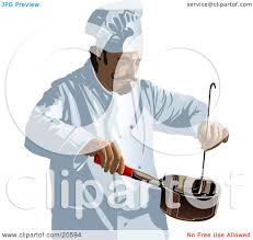 Clipart Illustration Of A Male Restaurant Kitchen