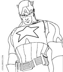 Captian America Coloring Pages Captain Civil War Black Panther