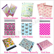 Decorative Flat Poly Mailers by Wholesale Strong Self Adhesive Custom Pink Lipstick Kiss