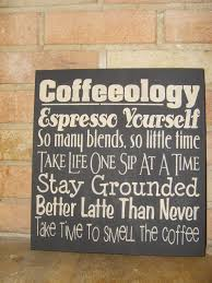 COFFEEOLOGY Kitchen Sign Coffee Decor Wood