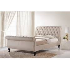 Baxton Studio Chair Bed by Wholesale Interiors Baxton Studio King Upholstered Platform Bed