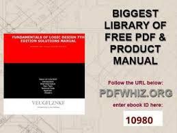 fundamentals of logic design 7th edition solutions manual