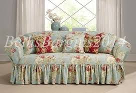 Sure Fit Sofa Slipcovers by Sure Fit Sofa Slipcover Ballad Bouquet By Waverly One Robins Egg